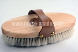 Brosse douce à poignée cuir